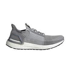 adidas Ultraboost 19 Mens Running Shoes Grey US 7, Grey, rebel_hi-res