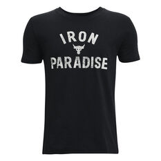 Under Armour Project Rock Iron Paradise Tee, Black, rebel_hi-res