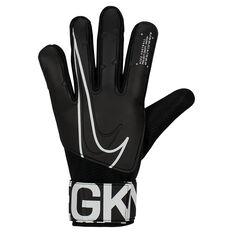 Nike Match Goalkeeper Gloves Black / White 8, Black / White, rebel_hi-res