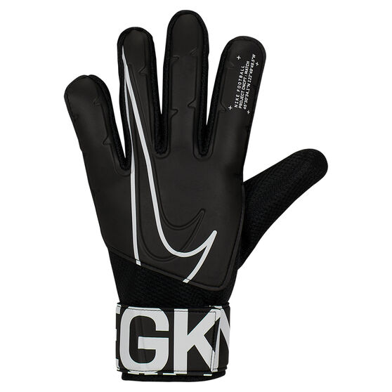 Nike Match Goalkeeper Gloves, Black / White, rebel_hi-res
