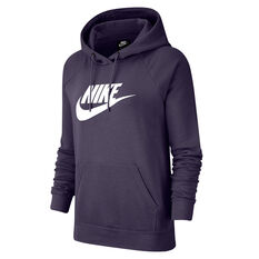 Nike Womens Sportswear Essential Fleece Pullover Hoodie Purple XS, Purple, rebel_hi-res