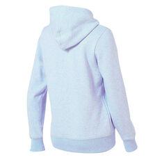 New Balance Womens Volume Fleece Full Zip Hoodie Blue XS, Blue, rebel_hi-res