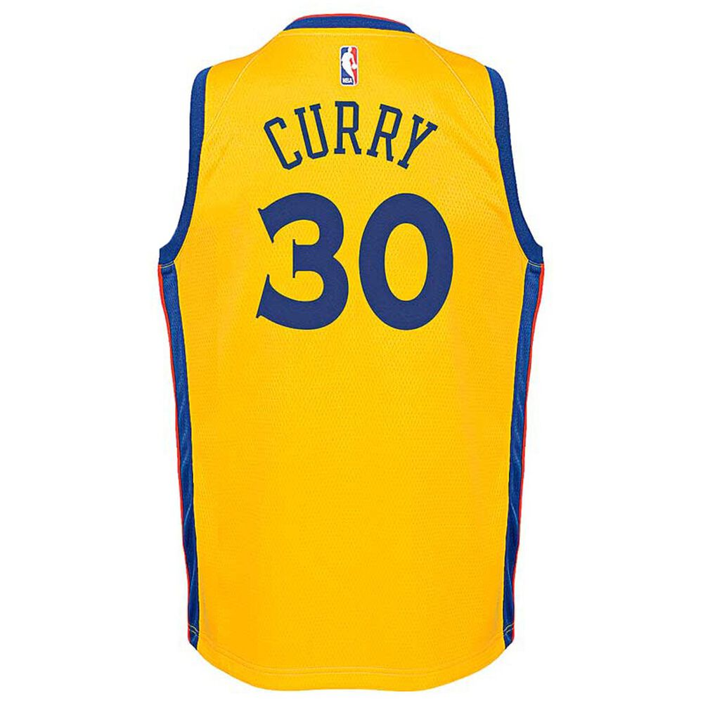 Nike Golden State Warriors Stephen Curry City Kids Swingman Jersey Yellow  S 925549485