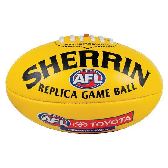 Sherrin AFL Replica Mini Ball Yellow 3, , rebel_hi-res