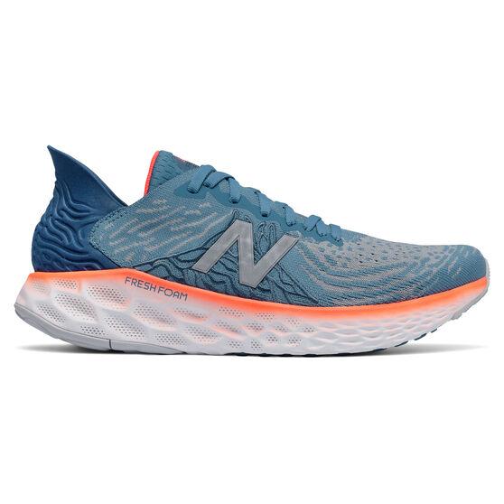 New Balance 1080 v10 Mens Running Shoes, Blue/Orange, rebel_hi-res