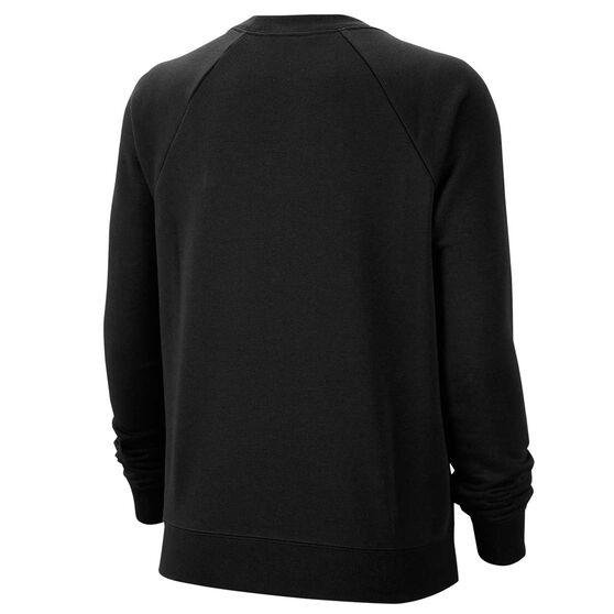 Nike Womens Sportswear Essential Fleece Sweatshirt, Black, rebel_hi-res