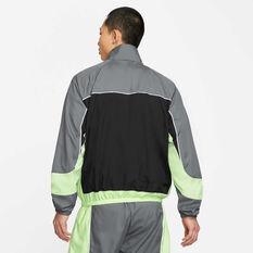 Nike Mens Throwback Basketball Jacket Grey XS, Grey, rebel_hi-res