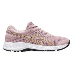 Asics GEL Contend 6 Kids Running Shoes Pink / Gold US 4, Pink / Gold, rebel_hi-res