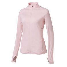 Ell & Voo Womens Amelia Full Zip Top Pink XS, Pink, rebel_hi-res