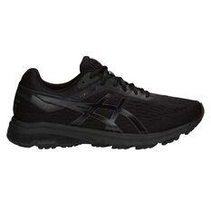 Asics GT 1000 7 4E Mens Running Shoes Black US 7, Black, rebel_hi-res