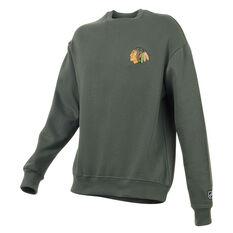 Chicago Blackhawks Mens Gamily Crew Sweatshirt, Grey, rebel_hi-res