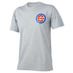 Chicago Cubs Mens Drimer Tee Grey S, Grey, rebel_hi-res