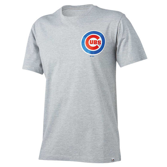Chicago Cubs Mens Drimer Tee, Grey, rebel_hi-res