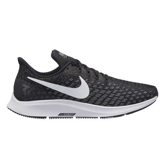 Nike Air Zoom Pegasus 35 Womens Running Shoes, Black / White, rebel_hi-res