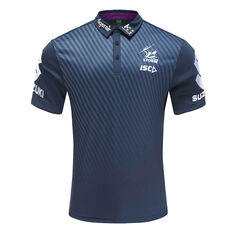 Melbourne Storm 2020 Mens Performance Polo Navy S, Navy, rebel_hi-res
