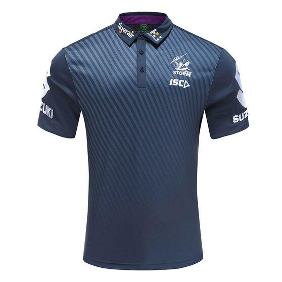 Melbourne Storm 2020 Mens Performance Polo, Navy, rebel_hi-res