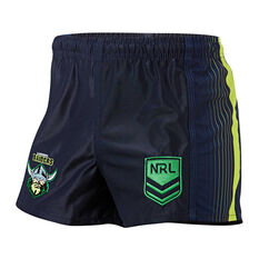 Canberra Raiders Mens Home Supporter Shorts, Navy, rebel_hi-res