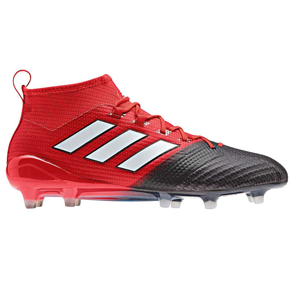 adidas Ace 17.1 Primeknit Mens Football Boots Red   White US 8 Adult ... b2eb78d6b6