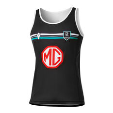 Port Adelaide Mens 2021 Training Singlet Black S, Black, rebel_hi-res