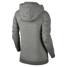 Nike Womens Funnel Neck Hoodie Grey / White XS Adult, Grey / White, rebel_hi-res