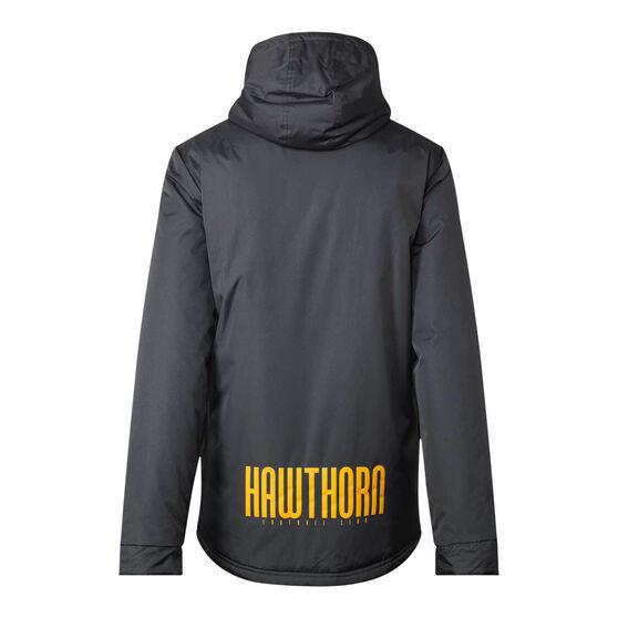 Hawthorn Hawks 2021 Mens Retro Stadium Jacket, Grey, rebel_hi-res