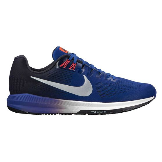 91dadc1c467 Nike Air Zoom Structure 21 Mens Running Shoes Blue   Silver US 7 ...