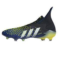 adidas Predator Freak + Football Boots Black/Blue US Mens 9 / Womens 10, Black/Blue, rebel_hi-res