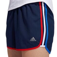 adidas Womens Marathon 20 Running Shorts Navy XS, Navy, rebel_hi-res