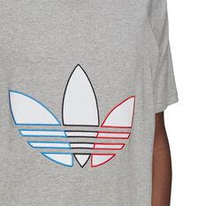 adidas Originals Mens Tricolour Tee, Grey, rebel_hi-res
