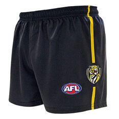 Richmond Tigers Kids Home Supporter Shorts Black 4, Black, rebel_hi-res