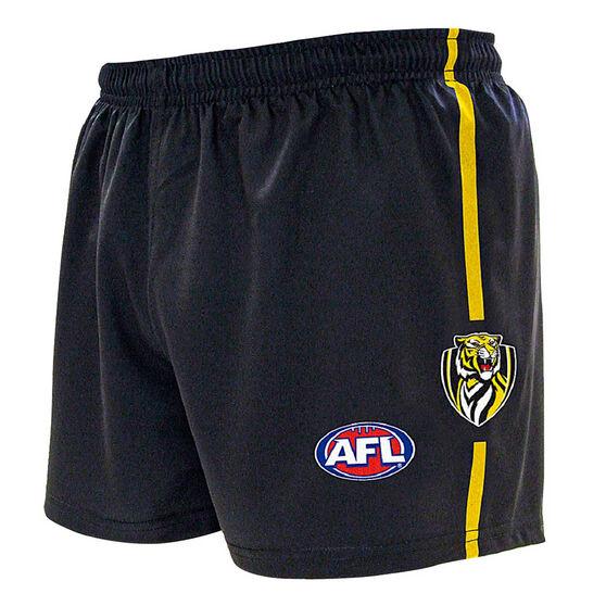 Richmond Tigers Kids Home Supporter Shorts, Black, rebel_hi-res