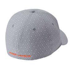 Under Armour Boys Printed Blitzing 3.0 Cap Grey / Orange XS / S, Grey / Orange, rebel_hi-res