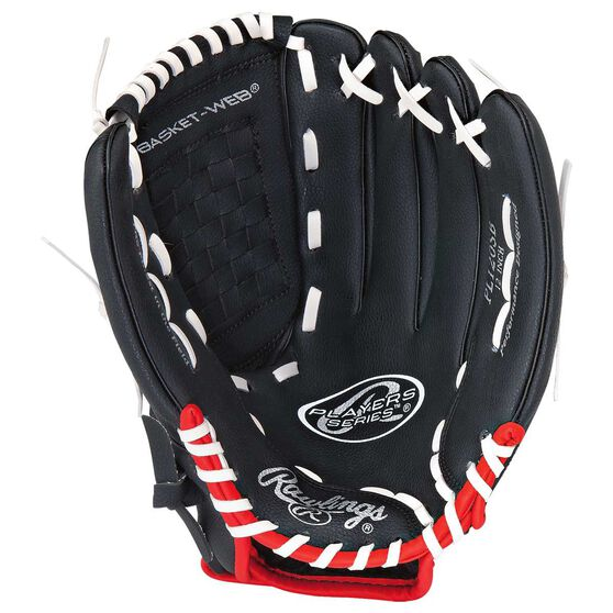 Rawlings Players 12in Right Hand Throw Baseball Glove Black, , rebel_hi-res