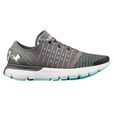 Under Armour SpeedForm Europa Womens Running Shoes, Grey / White, rebel_hi-res
