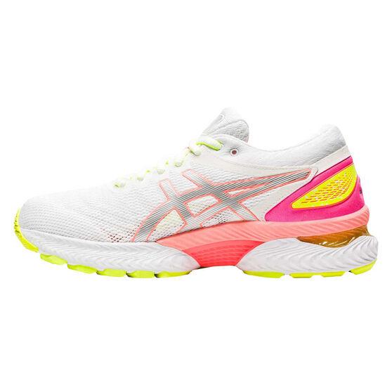 Asics GEL Nimbus 22 Lite Show Womens Running Shoes, White/Coral, rebel_hi-res