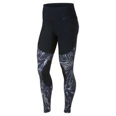 Nike Womens Power Training Tights Black / Grey XS, Black / Grey, rebel_hi-res