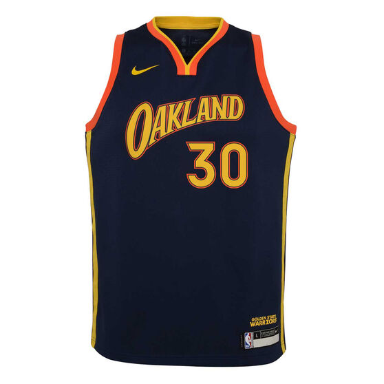 Nike Golden State Warriors Steph Curry 2020/21 Kids City Edition Swingman Jersey, Navy, rebel_hi-res