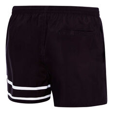Speedo Mens 90s Letterman Watershorts Black / White S, Black / White, rebel_hi-res