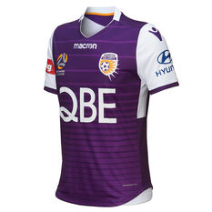 Perth Glory 2018 / 19 Kids Home Jersey Purple 4XS, Purple, rebel_hi-res