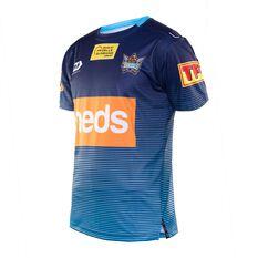 Gold Coast Titans 2020 Mens Training Tee Blue S, Blue, rebel_hi-res