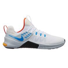 Nike Free Metcon x Mens Training Shoes White / Blue US 8, White / Blue, rebel_hi-res