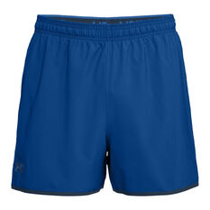 Under Armour Mens Qualifier  5in Woven Training Shorts Royal / Navy S, Royal / Navy, rebel_hi-res