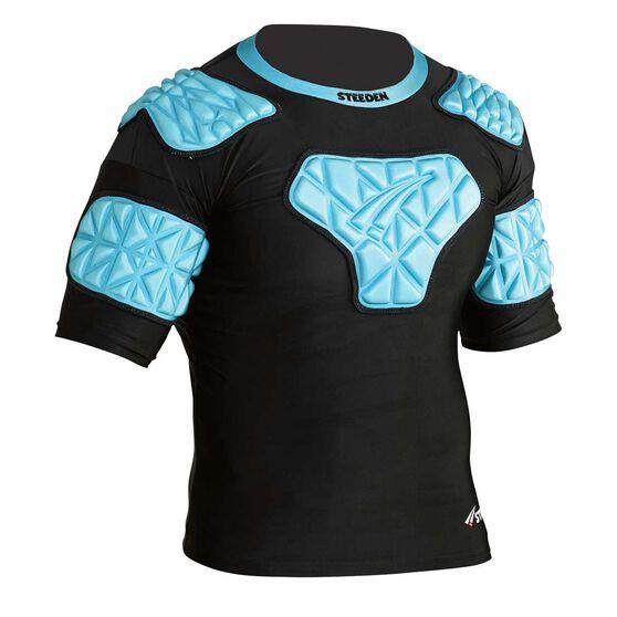 Steeden International Shoulder Pads Black / Blue L, Black / Blue, rebel_hi-res