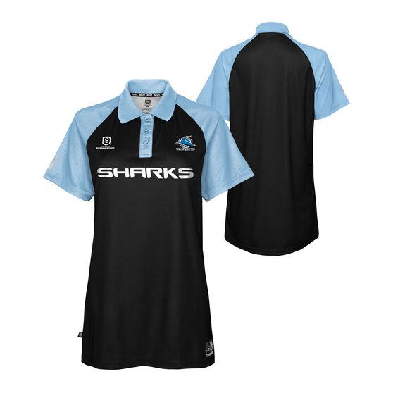 Cronulla-Sutherland Sharks 2021 Womens Polo, Black, rebel_hi-res