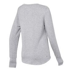 Ell & Voo Womens Amanda Crew Sweatshirt Grey XXS, Grey, rebel_hi-res