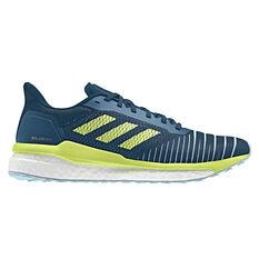 adidas Solar Drive Womens Running Shoes Blue / Yellow US 5, Blue / Yellow, rebel_hi-res