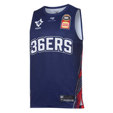Adelaide 36ers 2019/20 Mens Home Jersey Blue S, Blue, rebel_hi-res
