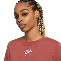 Nike Air Womens Crew Sweatshirt Pink XS, Pink, rebel_hi-res