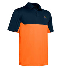 Under Armour Mens Performance Colourblock Polo Navy XS, Navy, rebel_hi-res