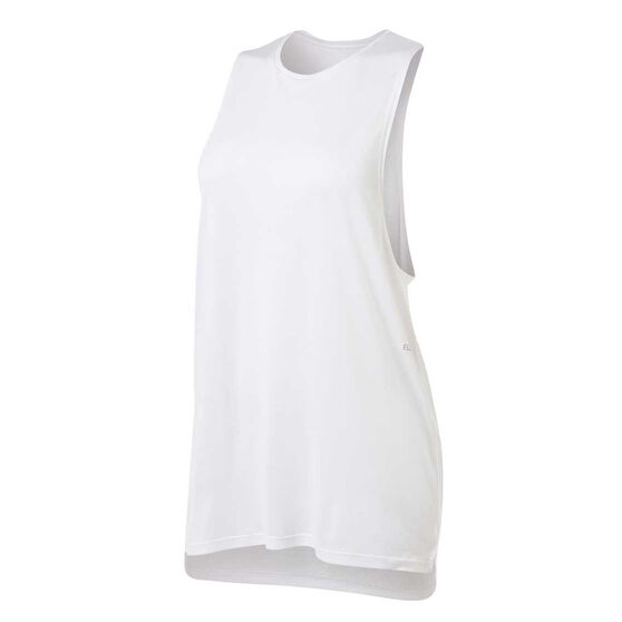 Ell & Voo Womens Ashleigh Muscle Tank, White, rebel_hi-res